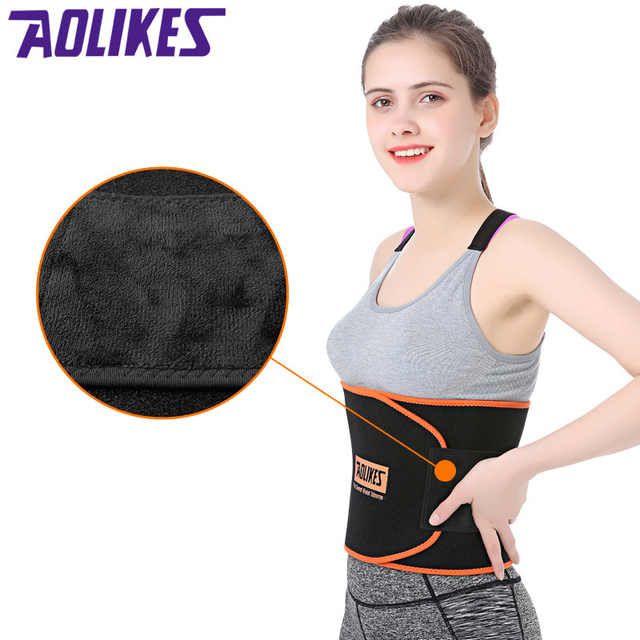 Women Sports Fitness Exercise Waist Band Pro Sweat Waist Trimmer Protector Female Belly Shaper Thin Adjustable Training Belt 2