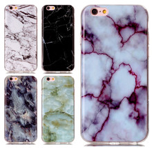 Wholesale Phone Bags Case For Apple iPhone 4 4S 5 5S SE 5C 6 6S 7 Plus ipod touch 6 Soft TPU Marble Stone image Paint Cover Skin