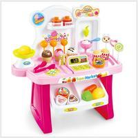 Diy 아이 식료품 식품 아이스크림 캔디 스토어 슈퍼마켓 쇼핑 장난감 주방
