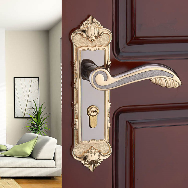 european modern interior room bedroom door handle locks amber white solid wood door lock. Black Bedroom Furniture Sets. Home Design Ideas