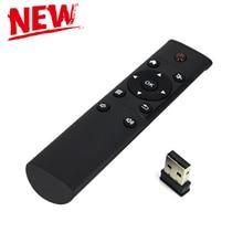 Черный FM4 2.4 Г Мини Беспроводного Управления Инфракрасный Пульт Дистанционного Управления USB беспроводной Приемник для Smart Android TV Box HTPC Мини-ПК Windows