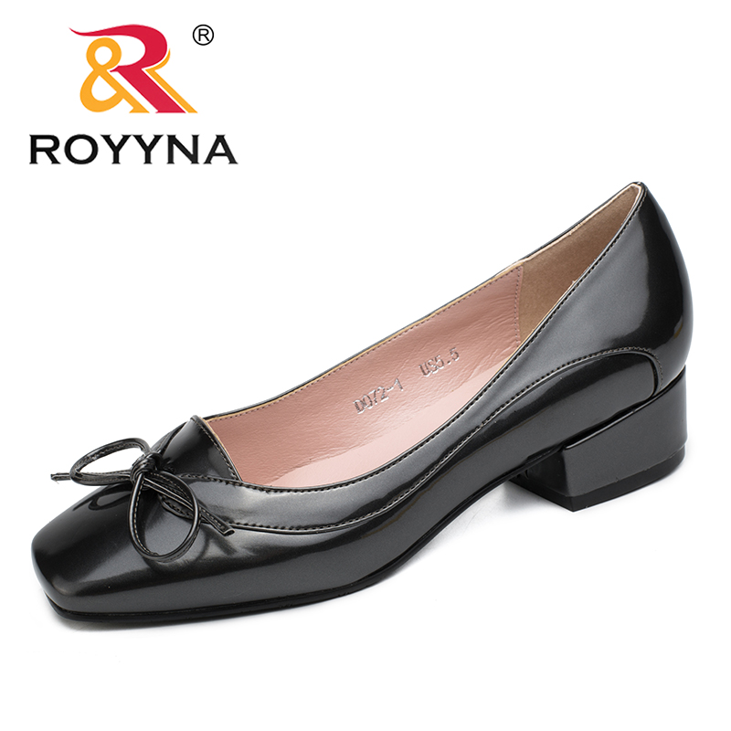 Image 5 - ROYYNA New Arrival Fashion Style Women Pumps Butterfly Knot Women Dress Shoes Square Toe Women Office Shoes Shallow Lady Shoes-in Women's Pumps from Shoes