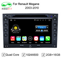 2 Din 7 Дюймов 1024*600 Quad Core 2 ГБ/16 ГБ Android 5.1.1 Автомобильный DVD GPS Для Renault Megane 2 ii 2003-2010 С Радио Wi-Fi OBD DVR