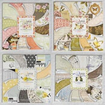 ENO Saudação de Papel Ofício 12 polegada papéis scrapbooking conjunto de papel fundo do jardim da flor do vintage para o cartão que faz papercraft