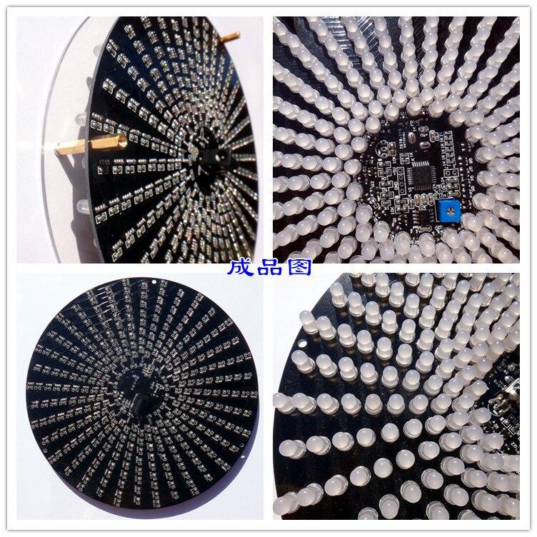 Kit de bricolage 18*18 Aurora, lampe à Gradient LED, Kit de soudage créatif, Production électronique