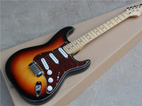 Tobacco Sunburst Body Electric Guitar with Red Tortoise Shell Pickguard and Offer Customized