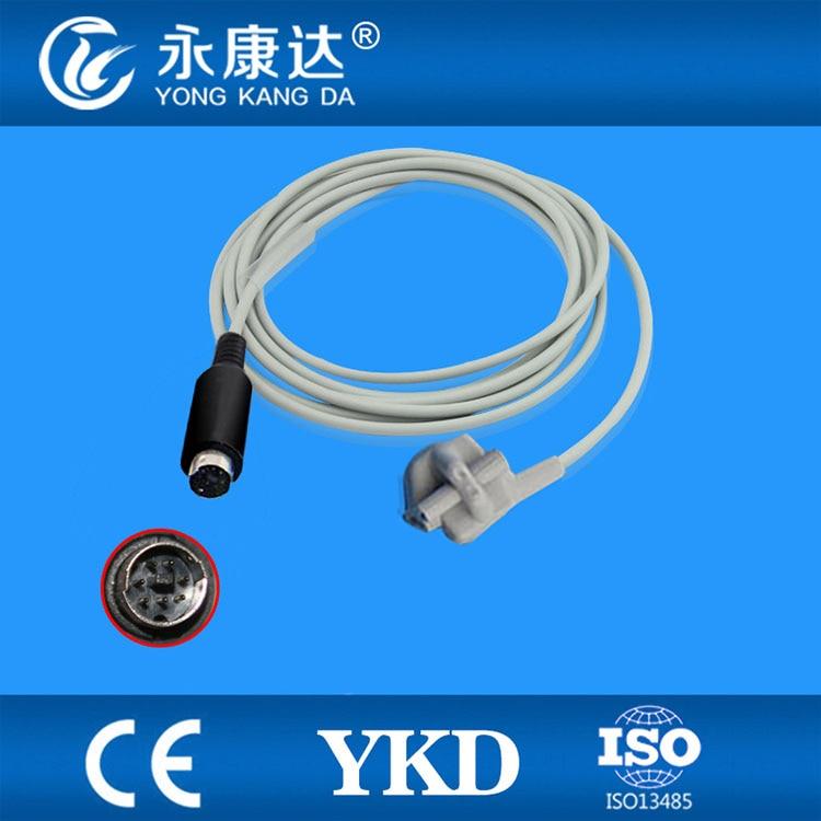 Compatible MEK-(CSI model) pediatric soft tip SpO2 Sensor 3m,7pins,TPUCompatible MEK-(CSI model) pediatric soft tip SpO2 Sensor 3m,7pins,TPU