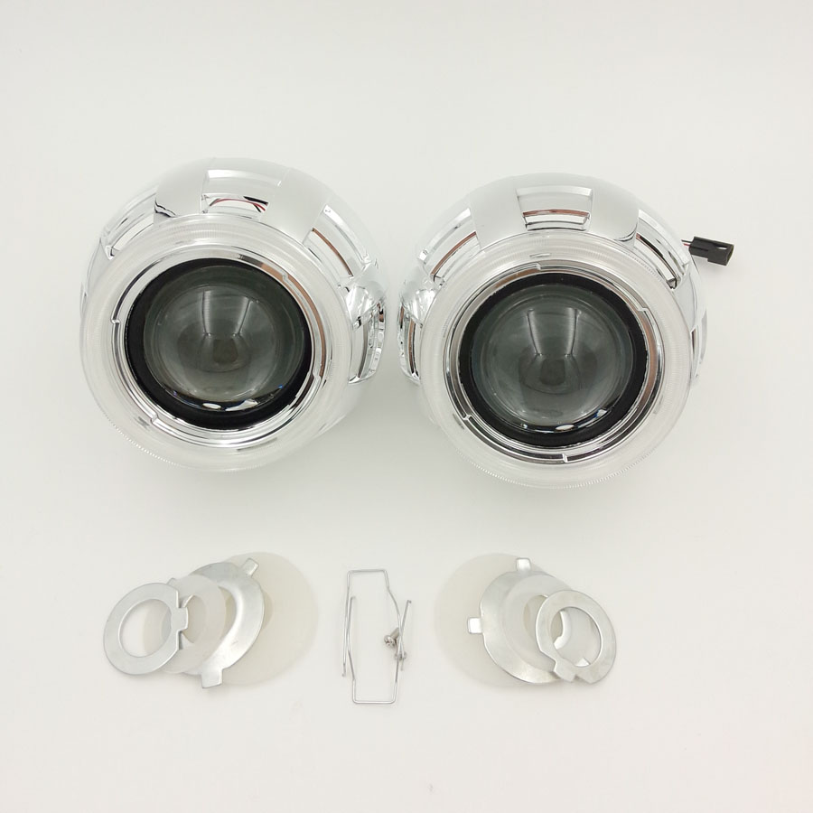 ФОТО 2.5inch Car Motorcycle External Lights Lenses Hi/lo Bi Xenon Projector headlight lens for H1 Lamp H4 H7 Autos Land Rover Covers