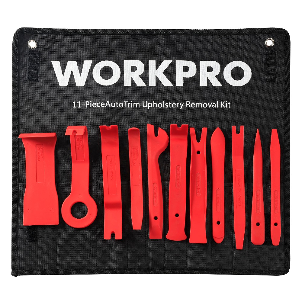 WORKPRO 11PC Car Upholstery Removal Kits Auto Interior Radio Panel Door Clip Windows Trim Removal Installer Pry Repair Tool Set