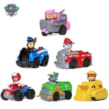 Paw Patrol Dog Puppy Patrol Car Patrulla Canina Toys Action Figures Model Toy Chase Marshall Ryder Vehicle Car Kids Genuine цена в Москве и Питере