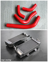 High Performance L R Aluminum Alloy Radiator Silicone Hose For Honda CRF250R 2004 2009 CRF250X 2004