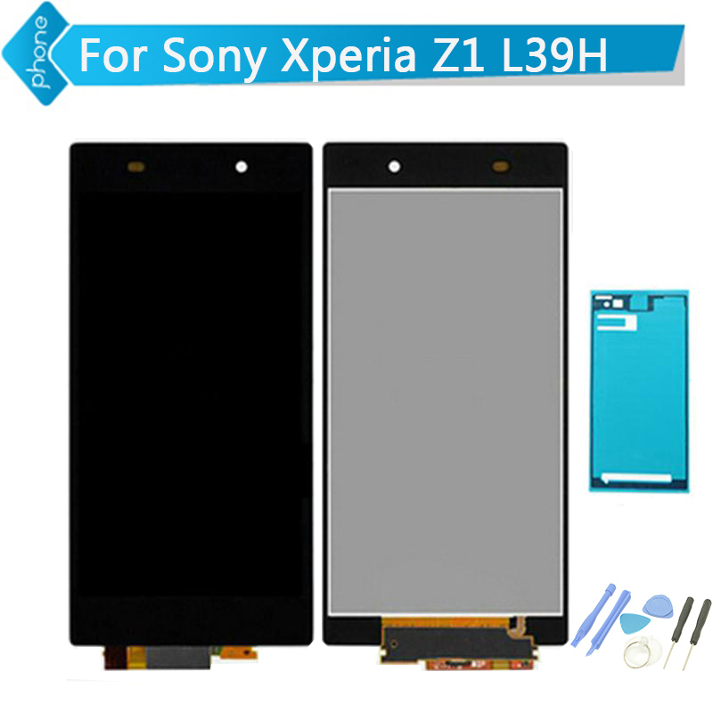 For Sony Xperia Z1 L39H LCD Display Touch Screen Digitizer Assembly Black + Tools + Adhesive sticker