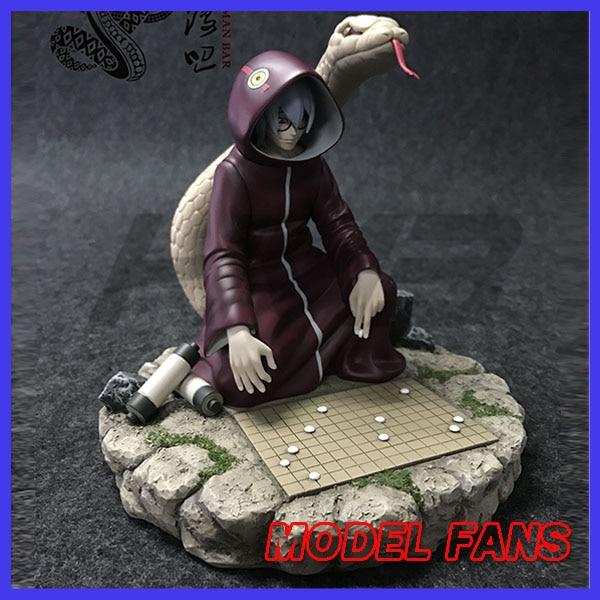 все цены на MODEL FANS INSTOCK 18cm NARUTO HMB Yakushi Kabuto gk resin figure toy for Collection