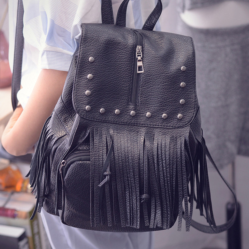 ФОТО Fashion female package bag Korean version   school students teenagers washed leather rivet cross body bag