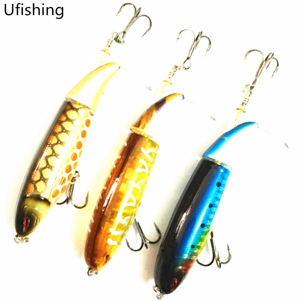 Ufishing Fishing Lure Tractor Popper Artificial Bait 9cm 13g BKK Treble Hook Propeller Peche Leurre Souple lifelike minnow fishing lure 1pcs 9 5cm 11 2g high quality treble hook artificial hard bait treble hook crankbait with 3d eyes