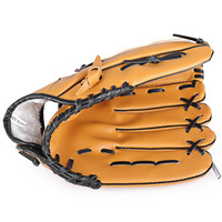 PU Leather Baseball Glove and Balls Softball Kids Practice Trainning Size 10.5/11.5/12.5 Left Hand for Adult Child Female Men