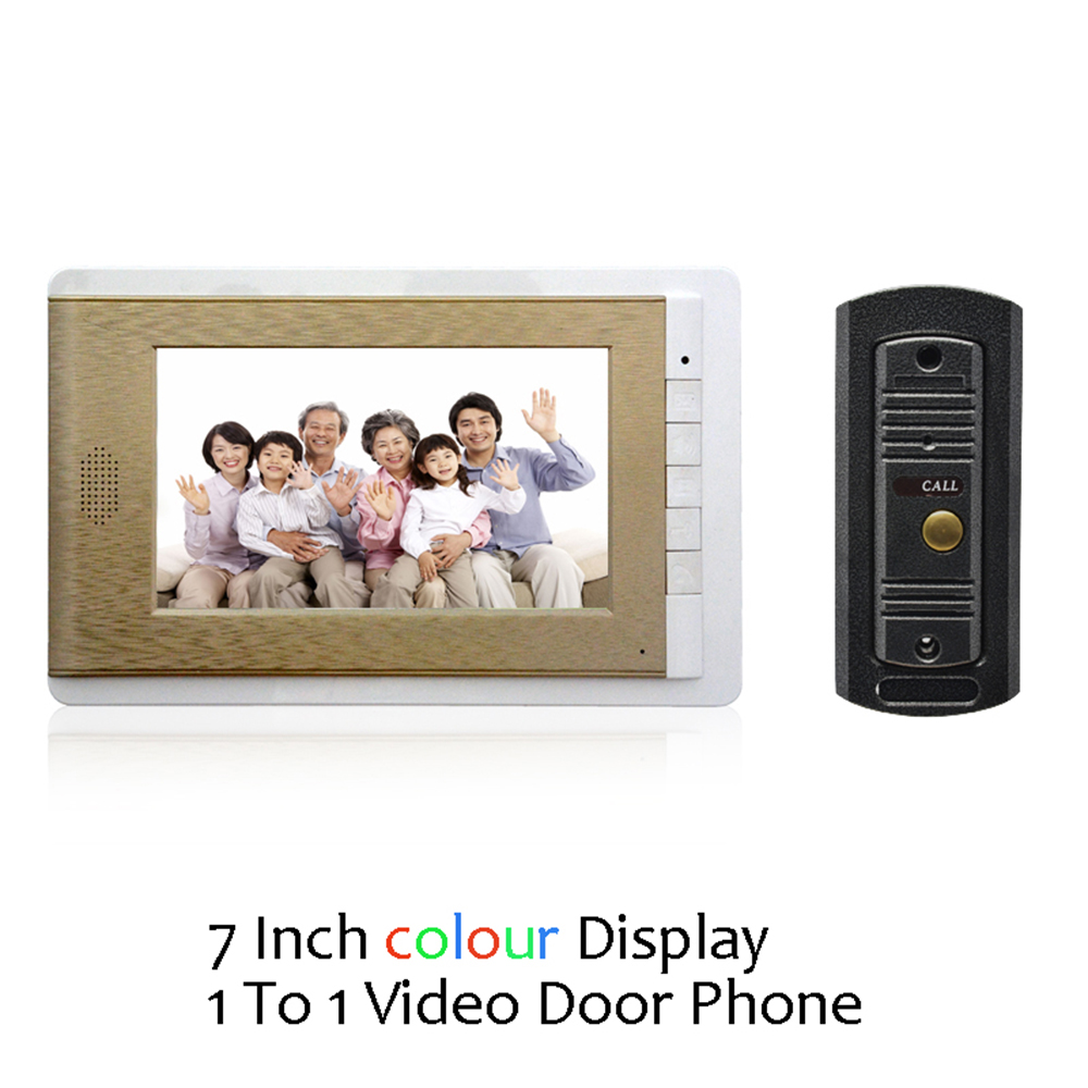 (1 Set) Door Intercom Talkback System HD Camera Night Version One To One Monitor Video Door Phone Access Control Drawbench Face