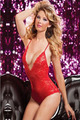 2016 valentine's day sexy lingerie hot Red black lace deep_v neck teddy sexy underwear erotic lingerie lenceria sexy costumes
