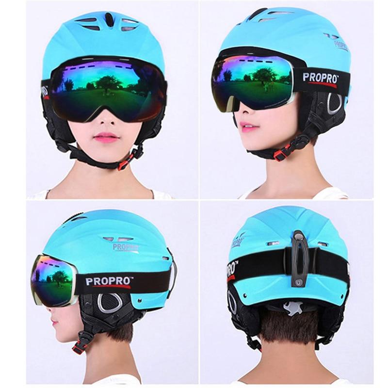 PROPRO Brand Outdoor Sport Helmets Integrally-molded Skiing Helmet For Adult and Children Safety Skateboard Ski Snowboard Helmet 2016 hot sale abs five color factory supply adult ski skate helmet skateboard skiing helmets