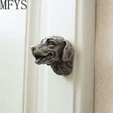 New arrival Antique Sliver Dog head Drawer  Handles Kitchen Cabinet Door Pull Handle / Furniture Knob Hardware цены онлайн