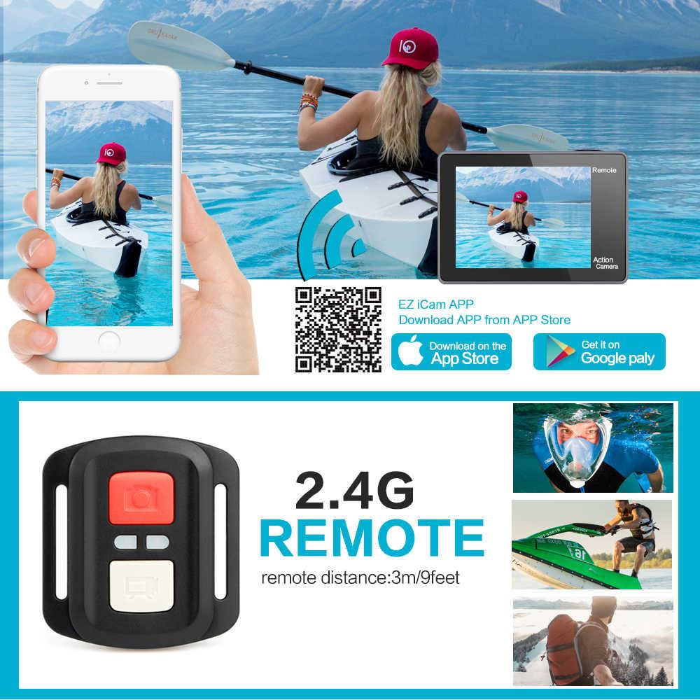 GEEKAM экшн Камера T1 Сенсорный экран со сверхвысоким разрешением Ultra HD, 4 K/30fps 20MP Wi-Fi подводный Водонепроницаемый велосипедный шлем Экстремальные виды спорта видео Cam