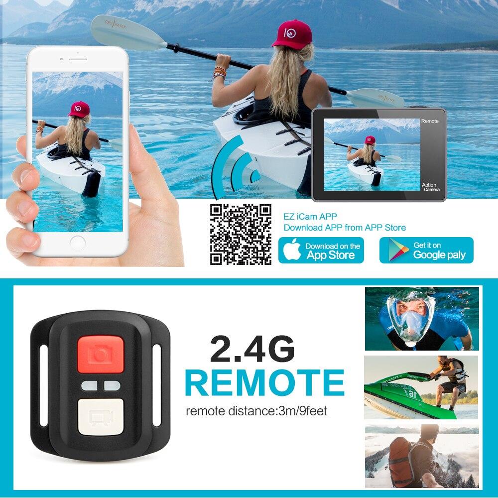 GEEKAM caméra d'action T1 écran tactile Ultra HD 4 K/30fps 20MP WiFi sous marine étanche vélo casque Sports extrêmes vidéo Cam - 4