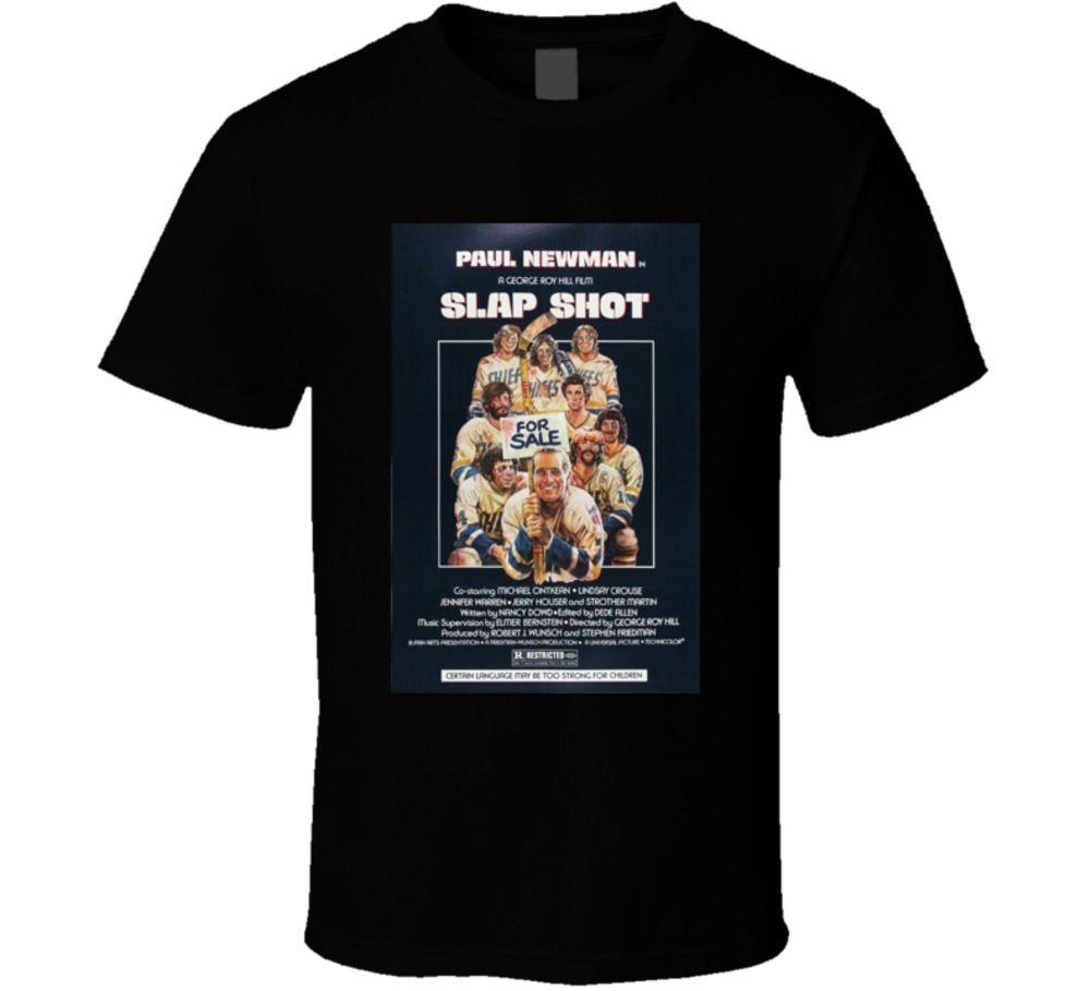Slap Shot Cool 70s Comedy Vintage Classic Movie Poster Fan T Shirt
