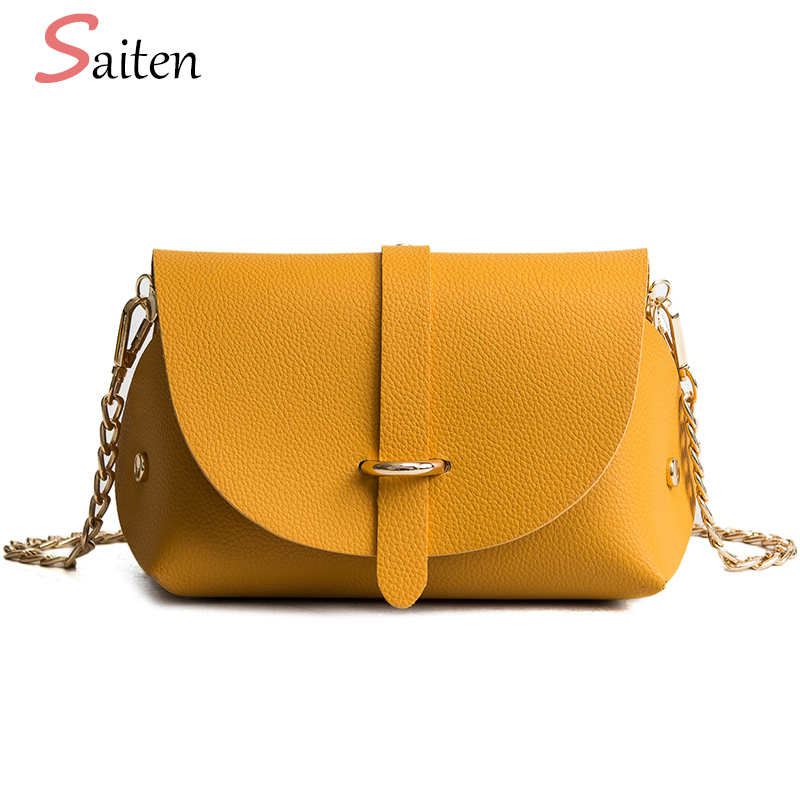 2018 New Arrivals Women Crossbody Bags Small Shoulder Messenger Bags For Women Flap Crossbody Bag With Chain Shoulder Strap Sac