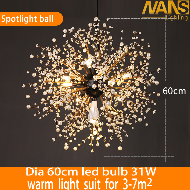vintage lights retro loft fireworks Spotlight Acrylic LED Pendant Light Dining /Living Room Kitchen Light Hanging Lamps