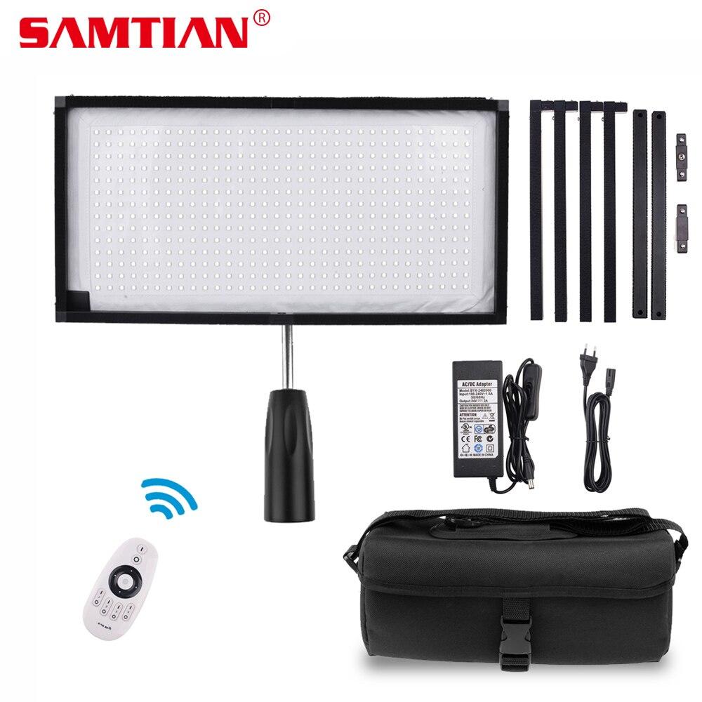 SAMTIAN FL-3060 Flexible LED Vidéo Lumière Photographie Éclairage Dimmable 5500 k 384 LEDs 30*60 cm Panneau Lumineux pour vidéo Photo Lampe