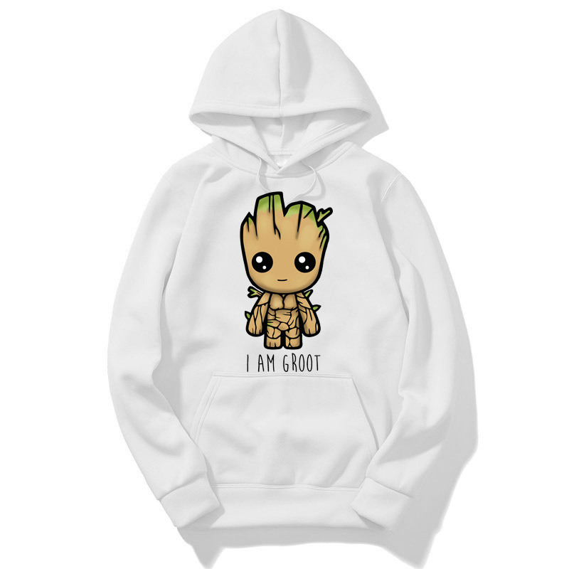 Kassidys BTS Newest Guardians Of The Galaxy 2 Men Groot Hoody Anime Baby Pop Baby Summer Funny I AM Groot Printed Gift Hoody