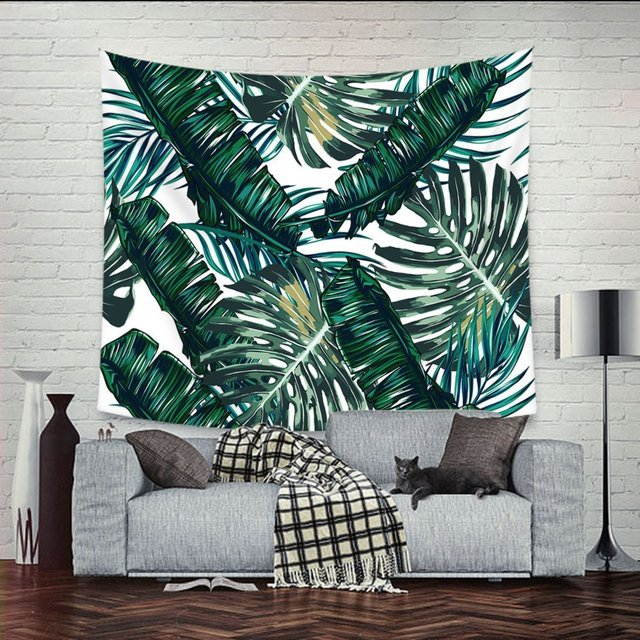 Banana Forest Scenery Mandala Tapestry Wall Hanging Cloth Bedroom Curtains Home Decor Art Sofa