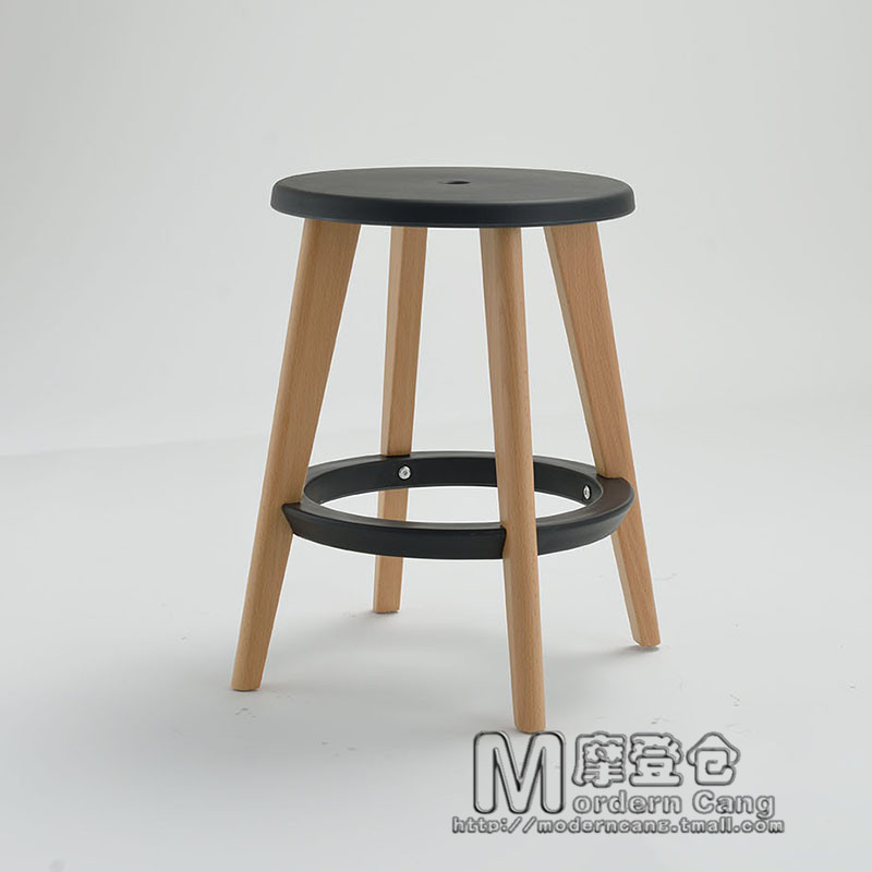 Bon Modern Warehouse Wood Dining Chair Stool Stool Curved Wooden Bench Meal  Fashion Casual Round Wooden Stool Stool Living Room Bedr In Shampoo Chairs  From ...
