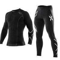 Men S High Quality Tight Long Pants Black Sports Trousers Men Gym Compression Bodybuilding Pants For