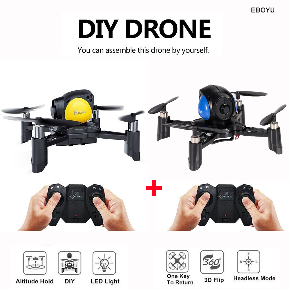 EBOYU Fayee FY605 Sky Fighter Drone 2.4G 4CH 6-Axis Gyro Height Hold DIY Racing Battle Quadcopter Game Toy Gift for Kids ...