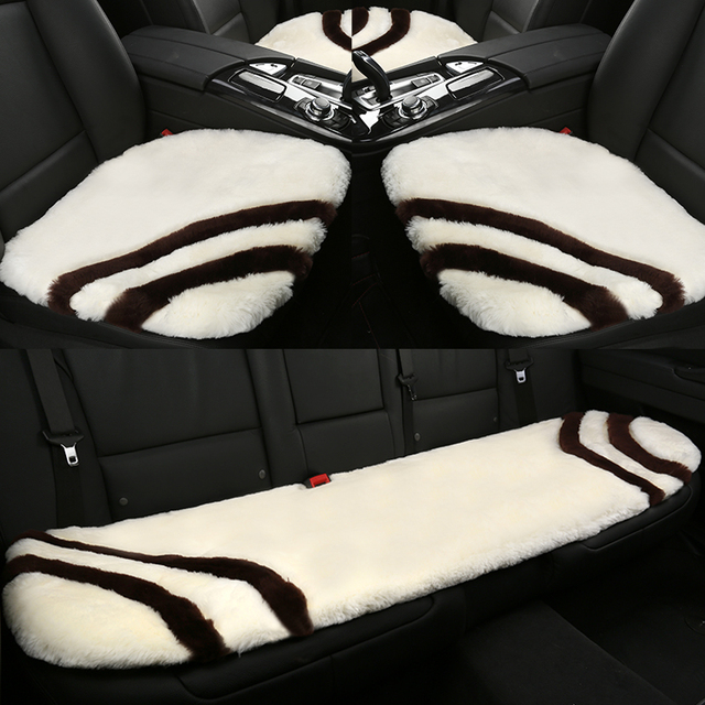 Jieyi Australia Sheepskin Car Seat Covers Wool Winter Universal Soft
