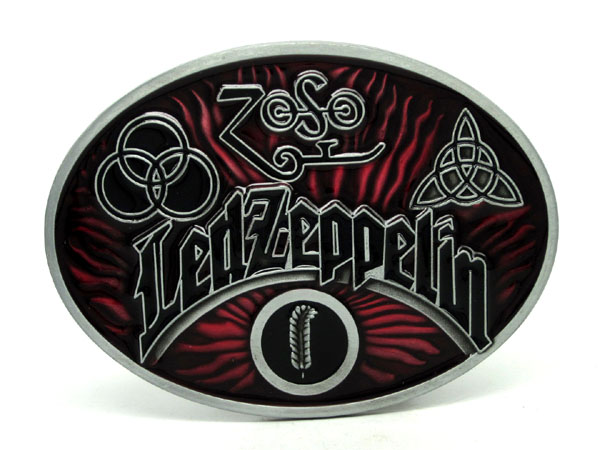 Oval Led Zeppelin Rock Music Belt Buckle
