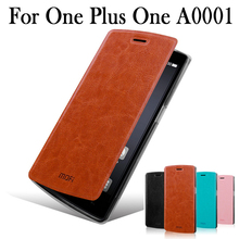 Первоначально Mofi для One plus One A0001 Телефон Чехол Высокое качество Флип кожаный чехол для OnePlus One Plus кожа стенд Чехол