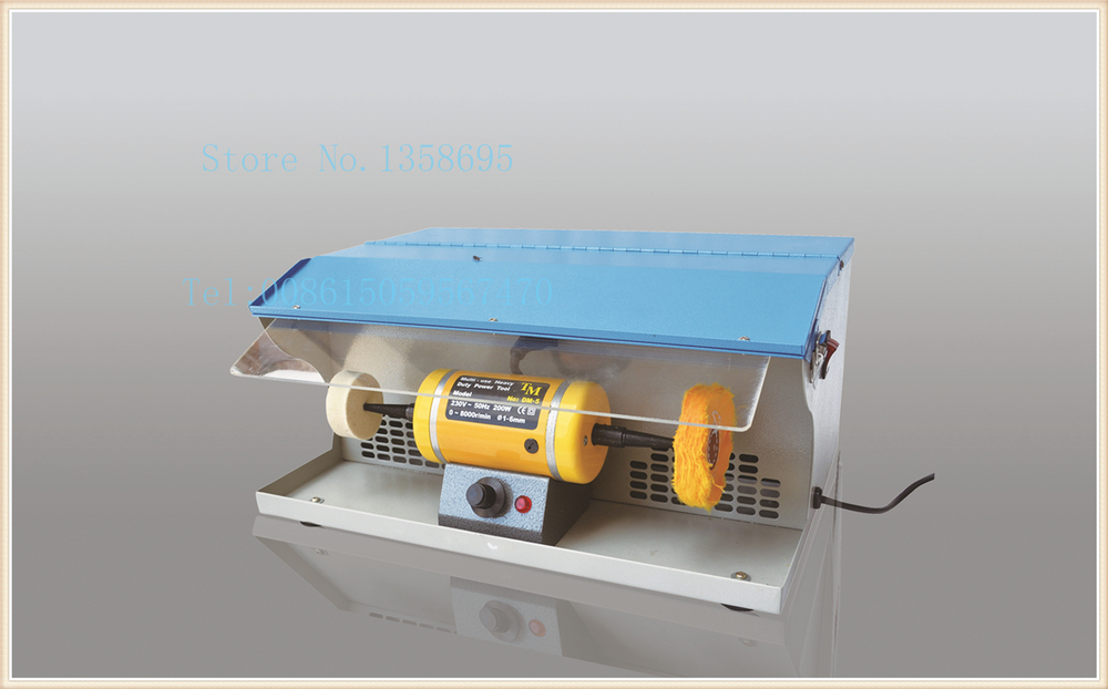 DIY tools Jewelry polishing machine with dust collector &gold grinding motor, bench lathes, buffing polishing machine