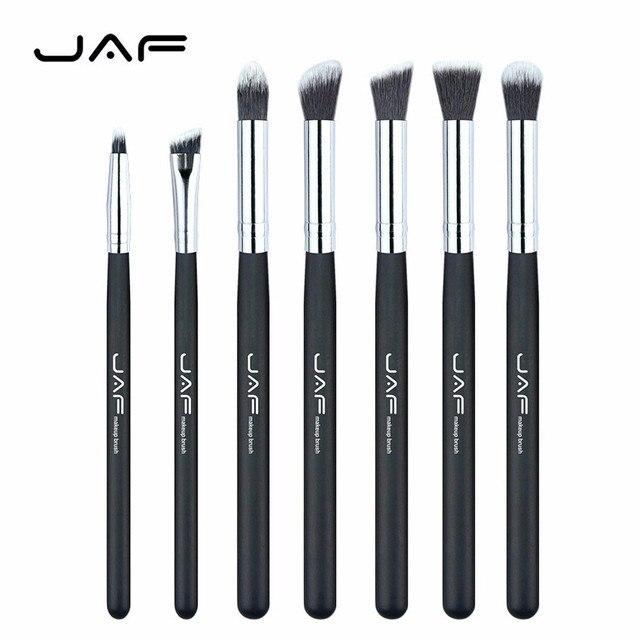 JAF 7 unids cosmética Cepillos profesional Sombras de ojos Delineador de ojos ceja Cepillos ojo cosmética Cepillos Cuidado herramienta de30de25