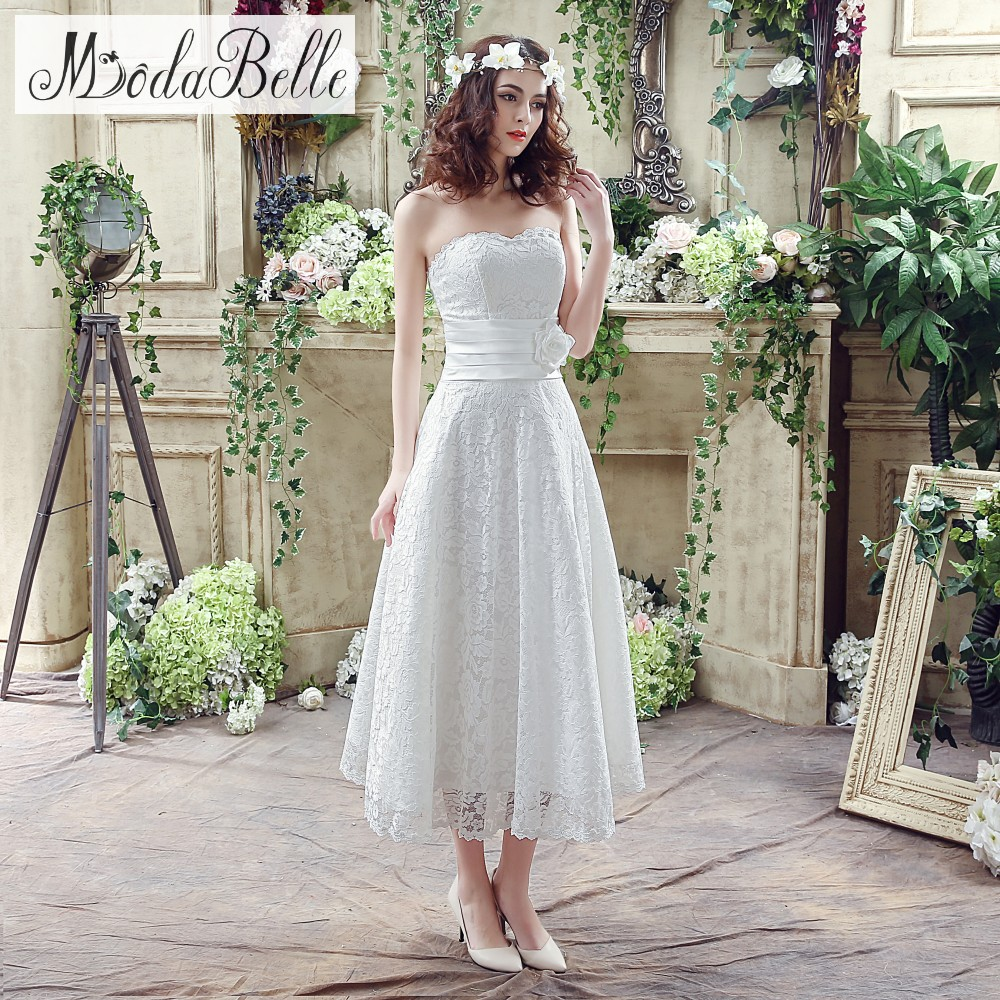 In Stock 2016 White Ivory Sweetheart Lace Wedding Dresses A Line