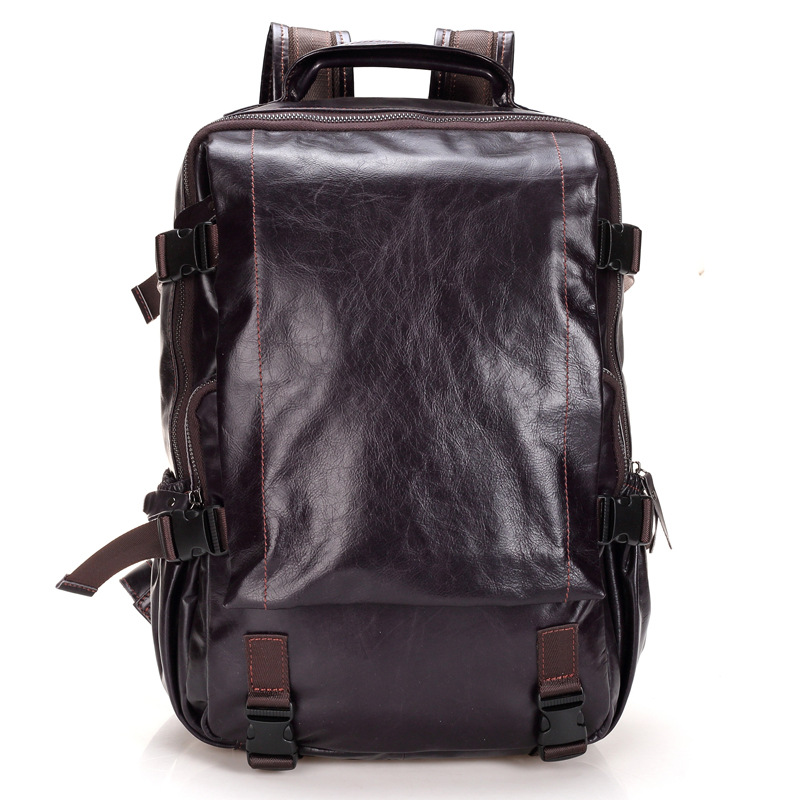 High Quality 100% Genuine Leather Teenager Boy College School Backpack Oil Wax Laptop Travel Backpack Vintage Casual DaypackHigh Quality 100% Genuine Leather Teenager Boy College School Backpack Oil Wax Laptop Travel Backpack Vintage Casual Daypack