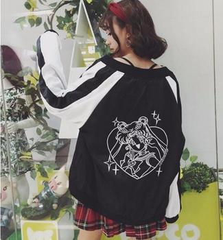 היץ היפני סיילור מון צבע כישוף רקמה jacket coat loose