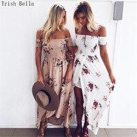 Summer Dress 2017 Fashion Printing Plus Size Wrap Chest Gaokaicha Sandy Beach Maxi Dress Vestidos Mujer
