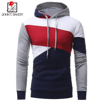 Johns 2017 New Fashion Hoodies Brand Men Multi Color Stitching Sweatshirt Male Hoody Hip Hop Autumn