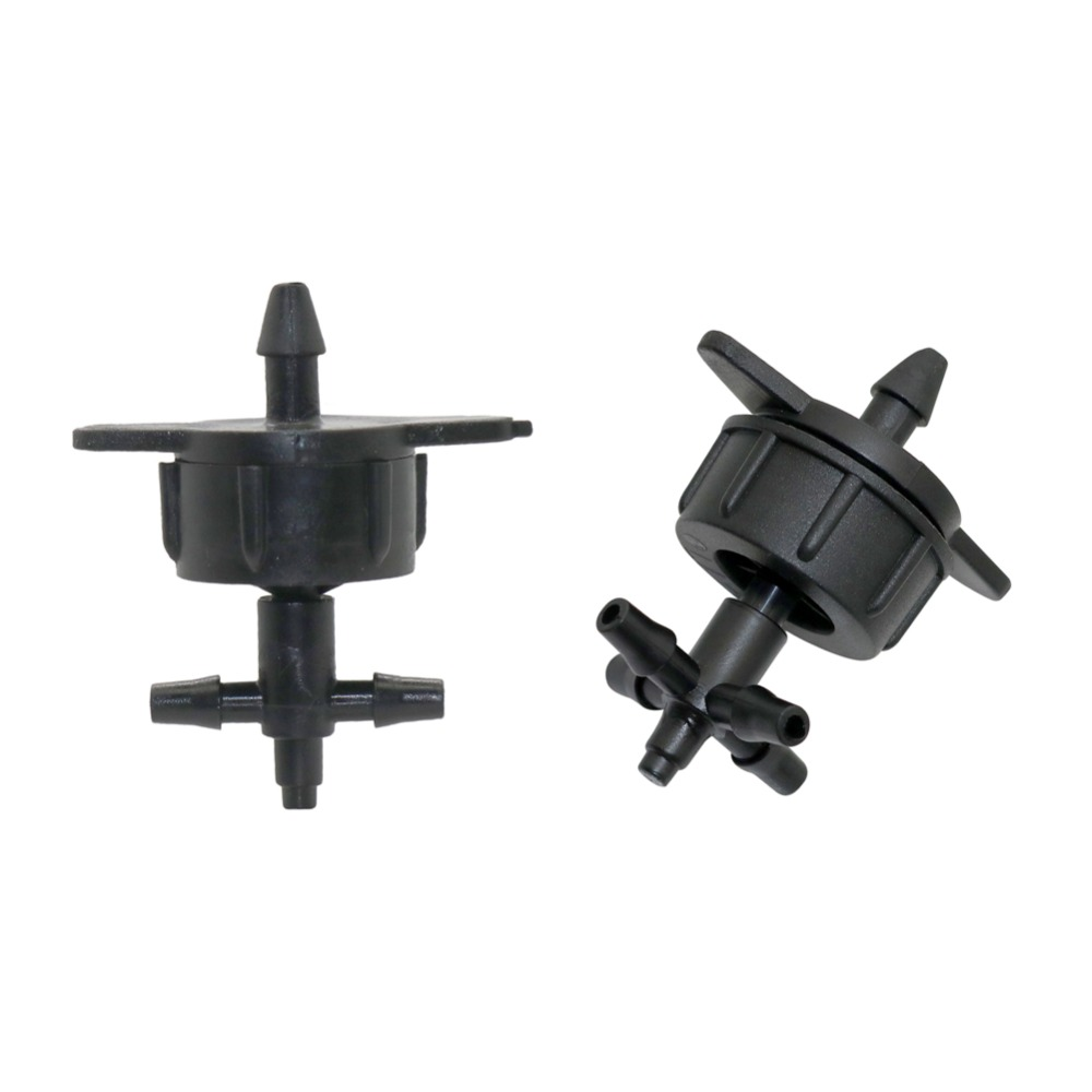 Drip Irrigation 3-way, 5-way Hose Splitters With 2L/4L/8L Flow Pressure Compensating Drippers Agriculture Tools 5 Sets