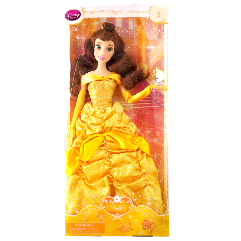 DISNEY Store Animated cartoon Beauty and the Beast Belle Classic Doll Figure toys gift for the