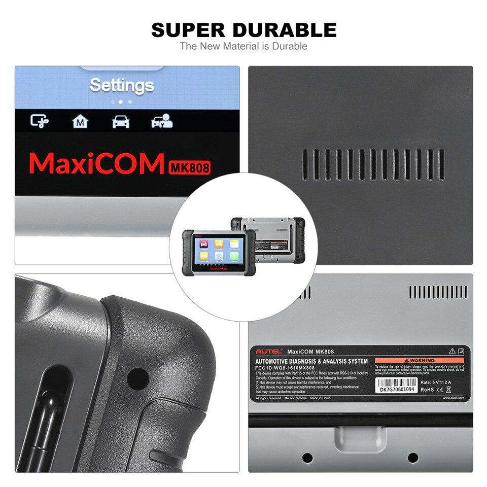 Autel MaxiCOM MK808 Scanner Code Reader MX808 MD808 supports obd2 IMMO/EPB/SAS/BMS/TPMS/DPF Service obd ii car diagnostic-tool