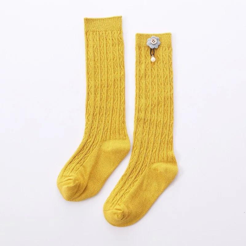 Cute Kids Knee High Socks for  Girls Baby Girls Exquisite Flower Cotton Princess Long Sock Children's Leg Warmer 1-5 Years 2