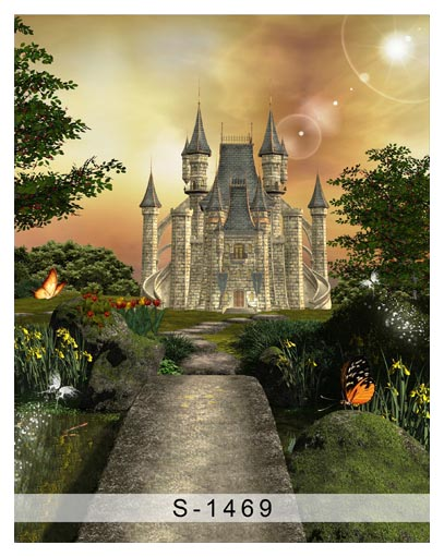 Customize washable wrinkle free fairy land castle palace photography backdrops for kids photo studio portrait backgrounds S-1469 customize washable wrinkle resistant print fairyland book photo studio backgrounds for birthday photography backdrops s 2323 a